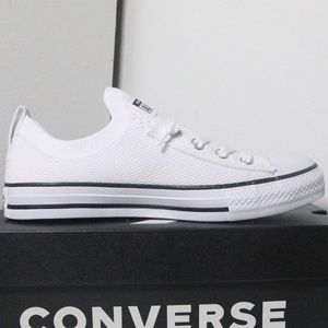 Converse White All Star Slip on Low Tops